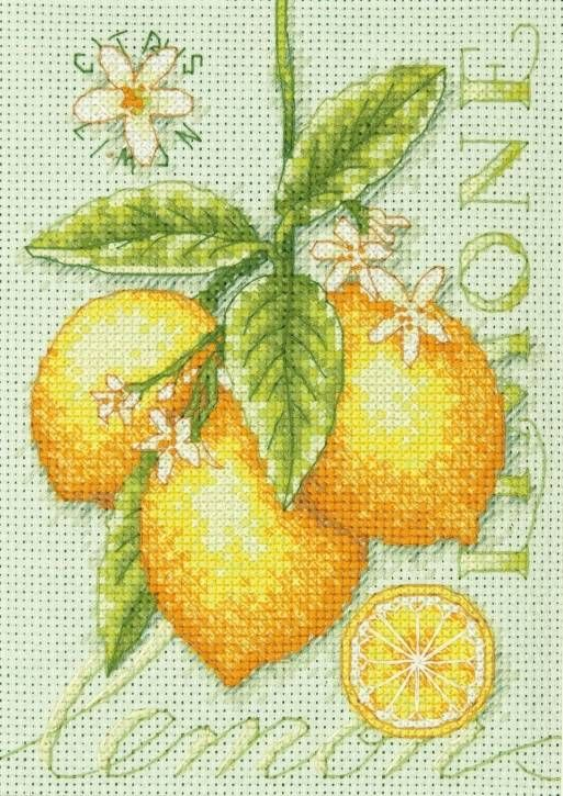 Lemons Cross Stitch Kit £11.50 | Past Impressions | Dimensions