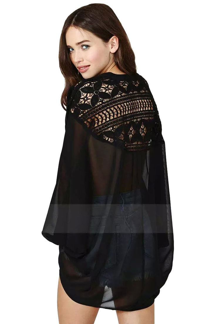 Ahueca hacia fuera el cordón del ganchillo Blusas Femininas 2015 cuello en V manga del Batwing de la blusa de la vendimia más el tamaño Camisas Mujer de encaje de ganchillo Blusas