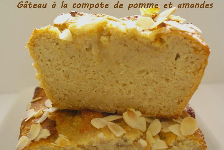 Gâteau à la compote de pommes et aux amandes