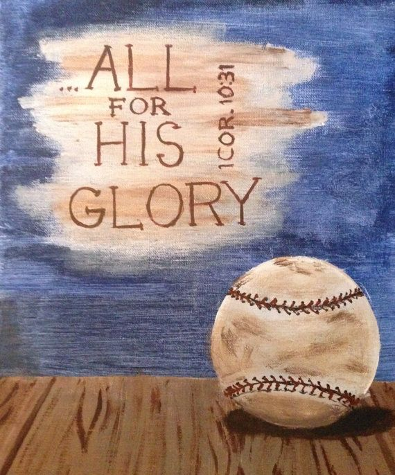 Original Baseball Painting on Etsy, $25.00