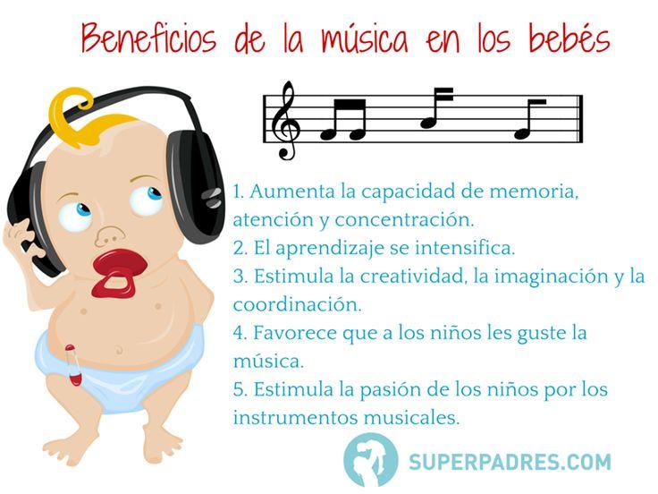 La música, no podemos negar que nos encanta y tiene un montón de beneficios, incluso para los bebés.