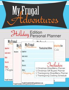 Free printable Thanksgiving and Christmas planner.  Keep all your menu ideas, shopping lists, gift lists in one spot.