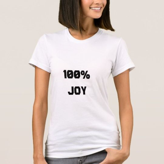 100% Joy T-Shirt. Show to the world with this t-shirt that you are 100% joy. You can also customize this product to change the text, font type and text color.