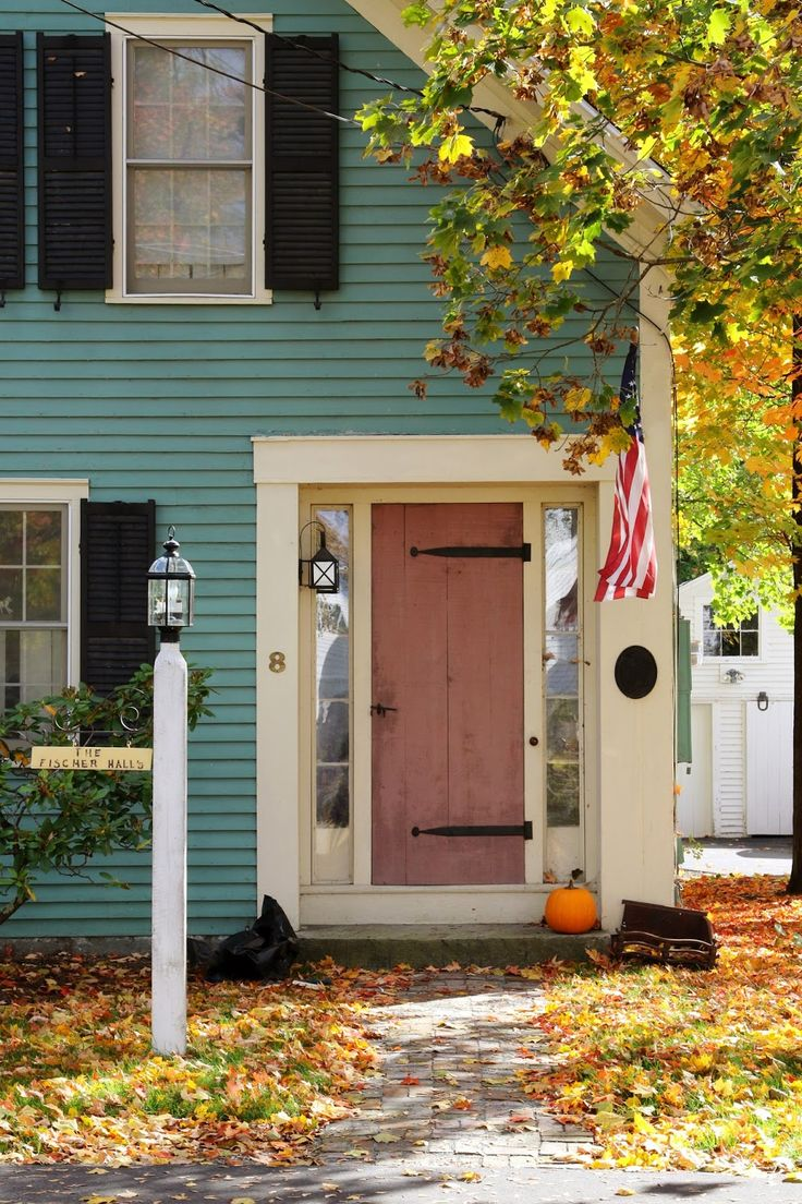 New England Living: New England Autumn Village