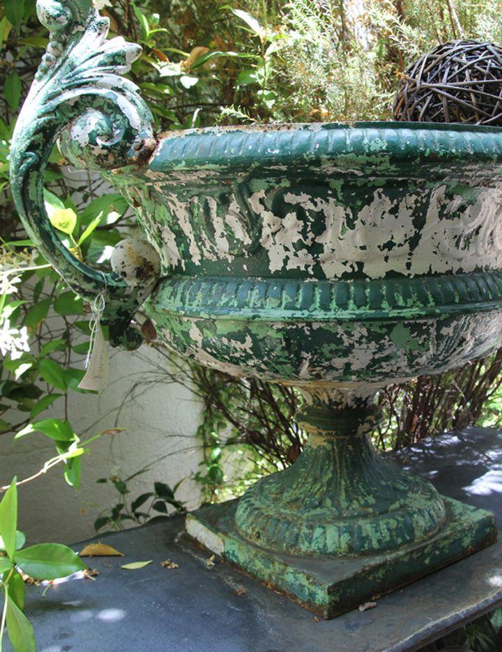 Vintage Garden Vase. Planting ...