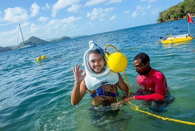 """'Explore the vibrant life on St. Lucia's sea floor through us! So much to see, Sea Trek Adventure! Book your Caribbean vacation & Excursions through us. . """"YOUR CARIBBEAN SPECIALIST""""  Cruises 