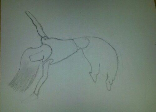 Dit is het begin van het dans meisje de schets.