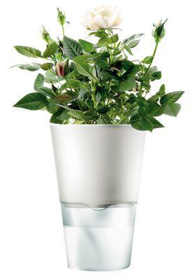 Pot de fleurs avec réserve d'eau Ø 11 cm - Version céramique Petit - Blanc - Eva Solo
