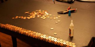 Návod na centový stôl alebo ak neviete, čo s drobnými