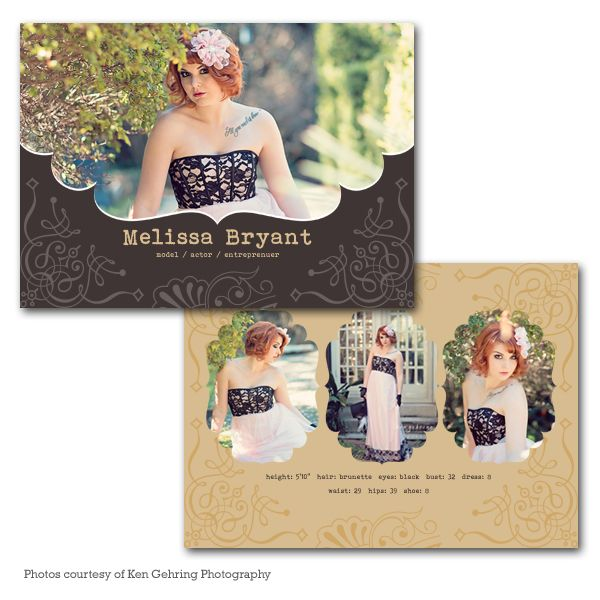 card templates model comp card and graduation announcement cards on