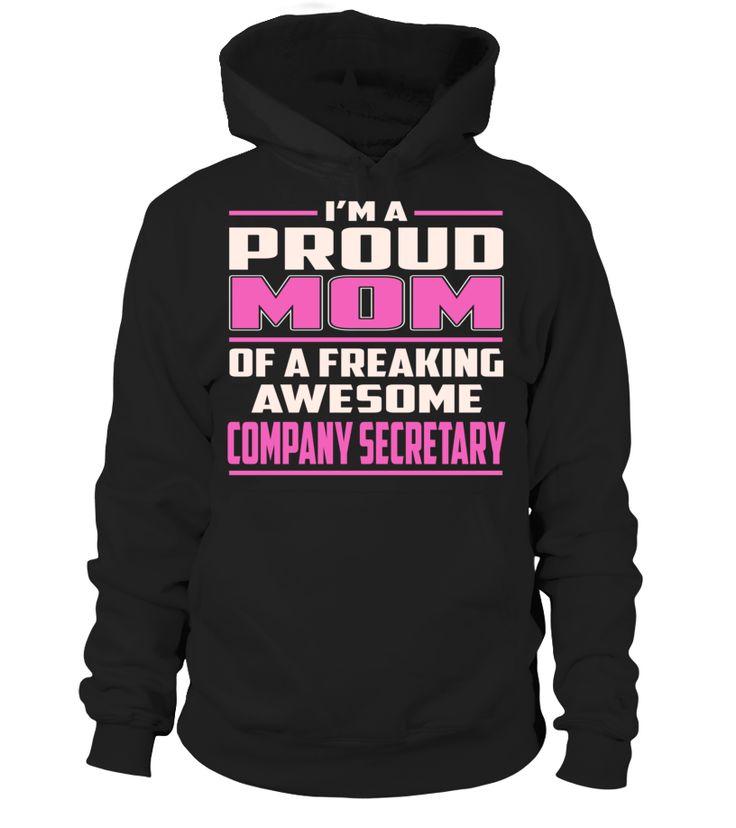 Company Secretary Proud MOM Job Title T-Shirt #CompanySecretary