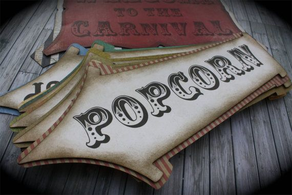 Vintage CARNIVAL/CIRCUS  Signs via Etsy