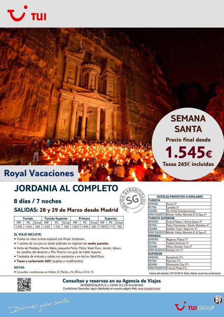 Semana Santa - Jordania al Completo. 7 noches. Desde Madrid 28 y 29Marzo.Precio final desde 1.545€ ultimo minuto - http://zocotours.com/semana-santa-jordania-al-completo-7-noches-desde-madrid-28-y-29marzo-precio-final-desde-1-545e-ultimo-minuto-2/