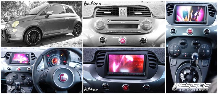 This #Fiat 500 received a brand new #Kenwood DDX6033BT.  We think it looks much better after, what do you think?