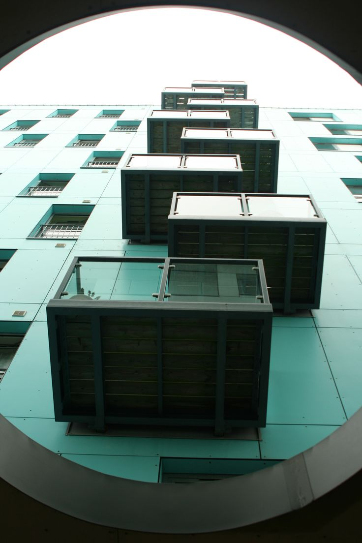 This is a photograph of some balconies,  it is a good photograph because the angle of the photo is perfect.   Leanne Gordon©Pompey Centre
