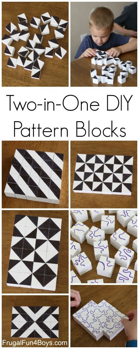These DIY pattern blocks are perfect for STEM learning through play. Your kids will have so much fun!