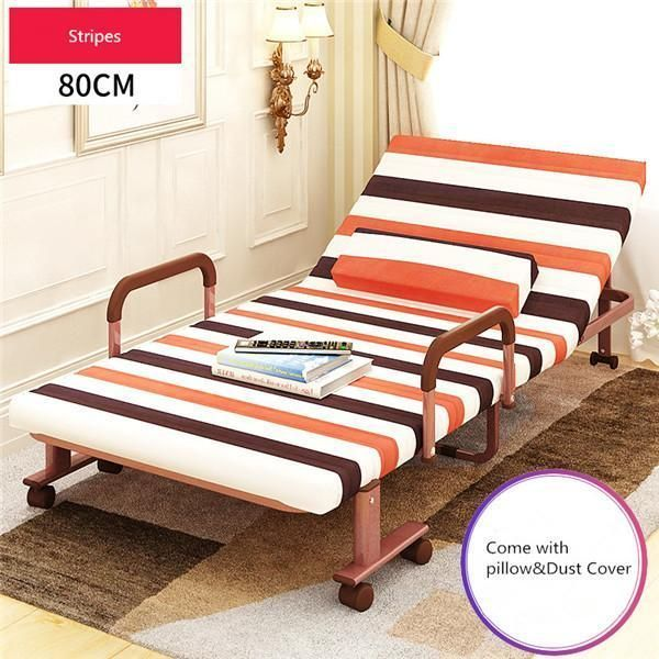 80cm Wide Folding Bed W Mattress Bedroom Furniture Rollaway Guest