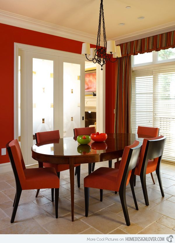 15 Dining Room Designs With A Red Touch
