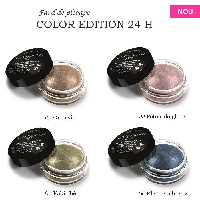Micile Cutii Rotunde de la Bourjois se gasesc in 2013 intr-o noua formula: crema-pudra. Faceti cunostinta cu noile farduri de pleoape Color Edition 24 H! #BourjoisFrenchChic