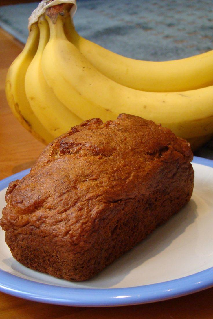 Sweet Cinnamon Banana Nut Bread  (Gluten Free, Dairy Free)