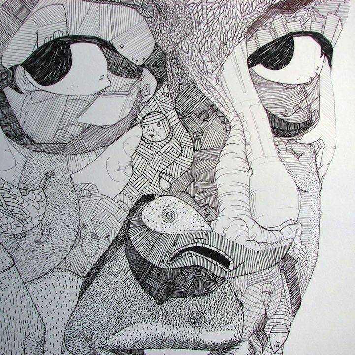 Jason Sho Green's ballpoint pen portraits