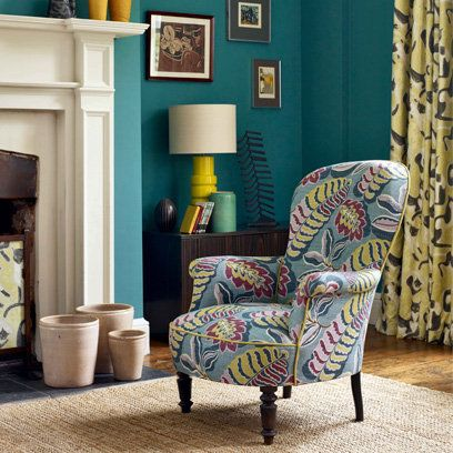 Turqoise walls yum and love the chair