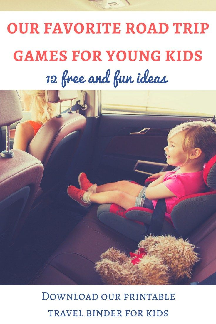 If you are looking for ideas of road trip games for young kids, here are our favorite ones! They are free and fun and will make your family trips easier! | Car games for young kids | Road trip games for toddlers | Road trip games for preschoolers | Activity ideas for road trips