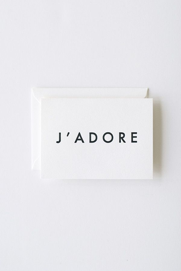 In Haus Press J'Adore Card