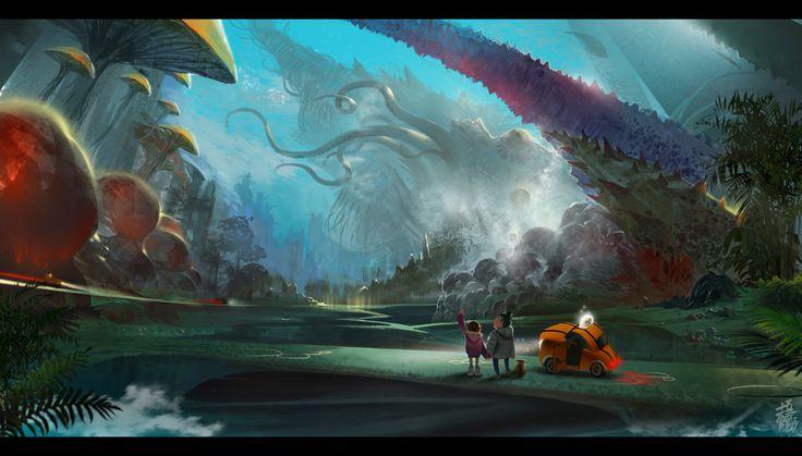 Mushroom Fantasy Landscape
