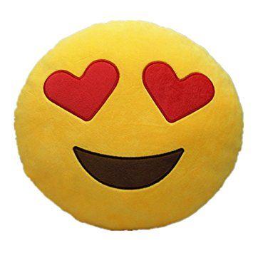 Cojín Emoji enamorado