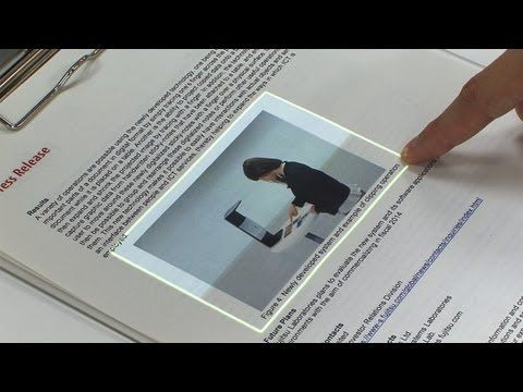 Fujitsu transformed paper docs in tactile screen — 2013 (2014 on the consumer market)