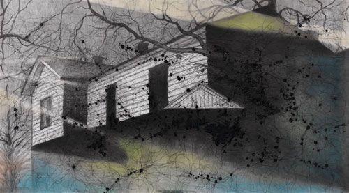 Arike Gill de laatste haven 120 x 163, tekentechnieken op papier € 3.150,-      Arike Gill blauwdruk #3, 50 x 40, blauwdruk op aquarelpapier € 1.050,- inclusief lijst      Arike Gill Terra Nova, 125 x 160, gem. techniek op papier € 4.150,- (incl. lijst)