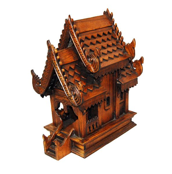 I saw these all over Asia, the House Spirits live there and protect the house. They expect and thrive on flower and fruit offerings. Thai Spirit House