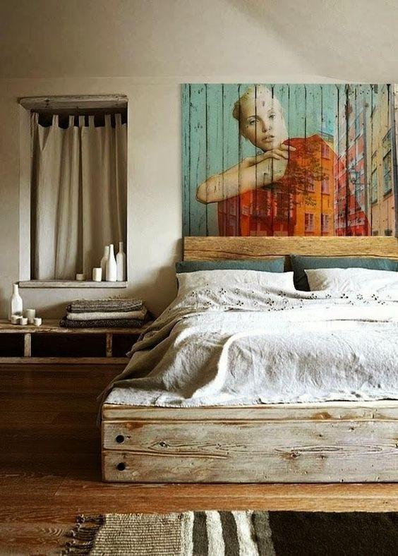 de fotos de cabeceros de cama originales de madera de forja tapizados vintage