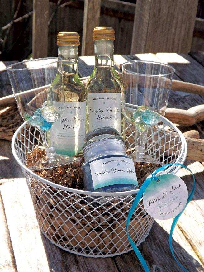 Beach Retreat Gift Basket from My Own Ideas blog #gift #beach #vacation #getaway…