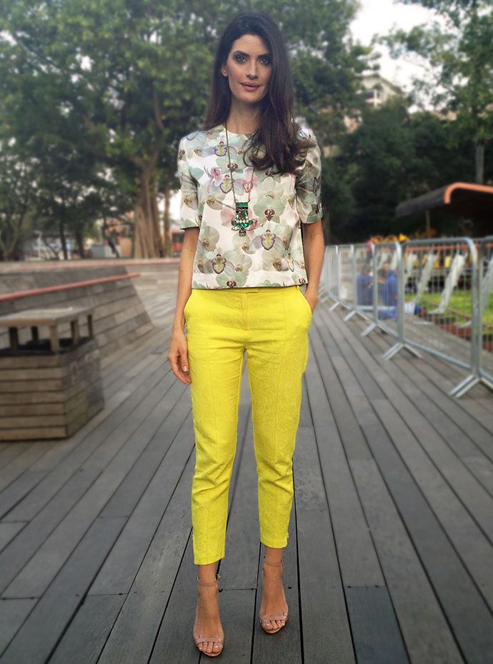 Calça Amarela Isabela Fiorentino