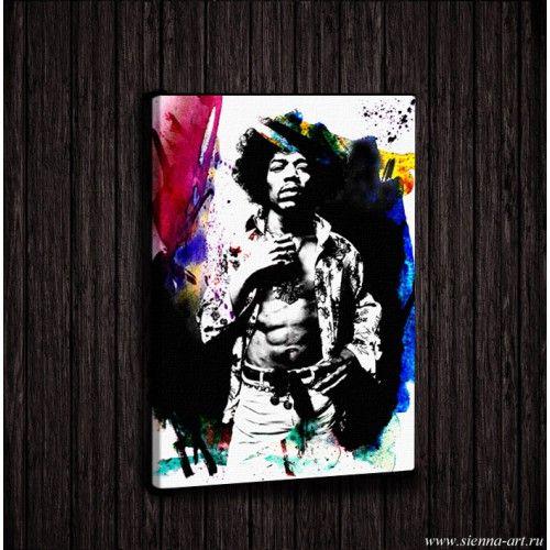 "Poster Jimi Hendrix Постер на холсте ""Джими Хендрикс"""