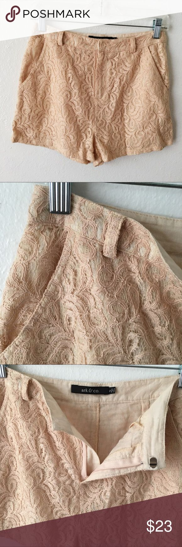 Ark & Co Cream Lace Shorts Gorgeous lace shorts, only worn once or twice, excellent condition ❤️ no visible flaws. Inseam approx 5cm Ark & Co Shorts