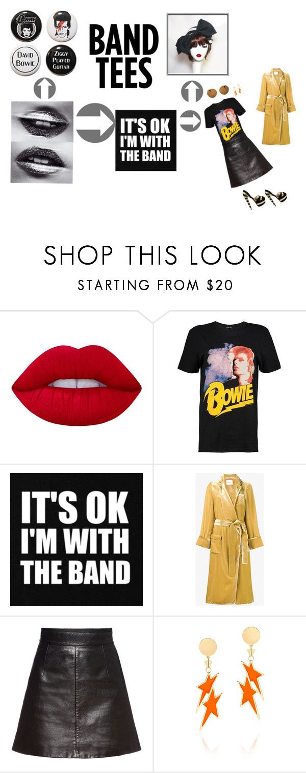 """Ziggy Played Guitar"" by bellastarrhats ❤ liked on Polyvore featuring Lime Crime, Boohoo, Racil, CO, Miu Miu, Karen Walker, Givenchy, hat, stripedhat and BellaStarr"
