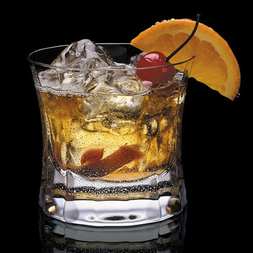 Maker's Mark Old Fashioned - Cocktail Recipe..Muddled fruit give this version of the classic an extra kick of sweetness