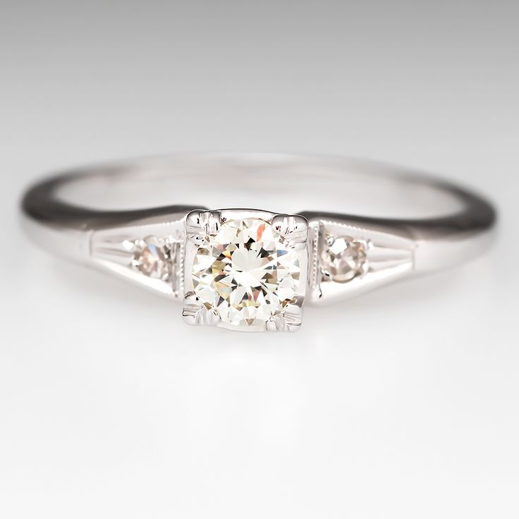 Petite Vintage Old Euro Diamond Engagement Ring- I usually prefer round diamonds, but this is BEAUTIFUL!!