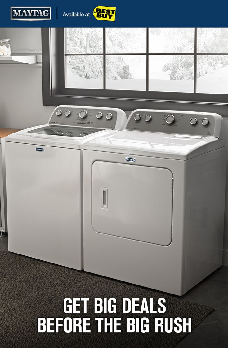 Get Powerful Black Friday Deals On Maytag® Washer And Dryer Pairs Now  Through 11/