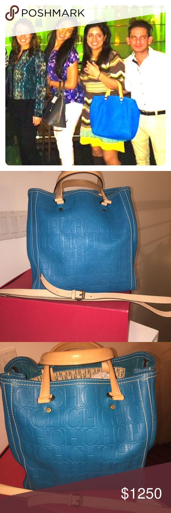 CAROLINA HERRERA TURQUOISE PURSE CAROLINA HERRERA TURQUOISE PURSE Carolina Herrera Bags Shoulder Bags