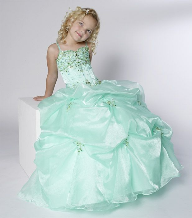 Tiffany 13234 Little Girls Pageant Dress - MINT - Size 6