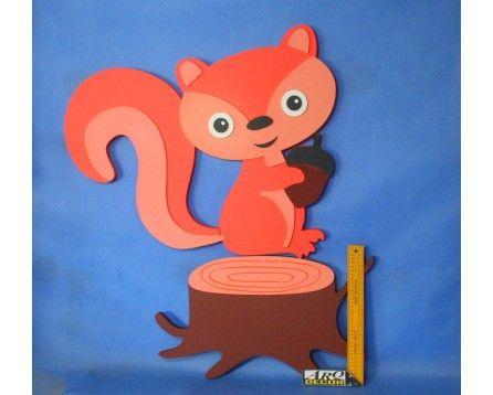 Wiewiórka - Dekoracje Do Przedszkola, Pokój Dziecięcy (NA ZAMÓWIENIE) - ARQ - DECOR | Pracowania Dekoracji ARQ DECOR