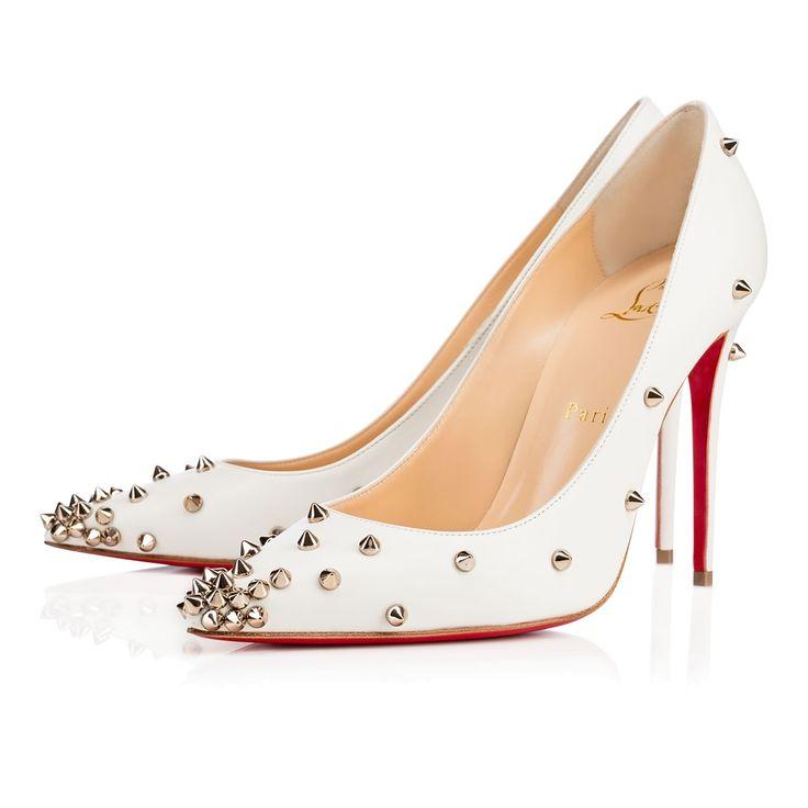 Degraspike 100 Neige Leather - Women Shoes - Christian Louboutin