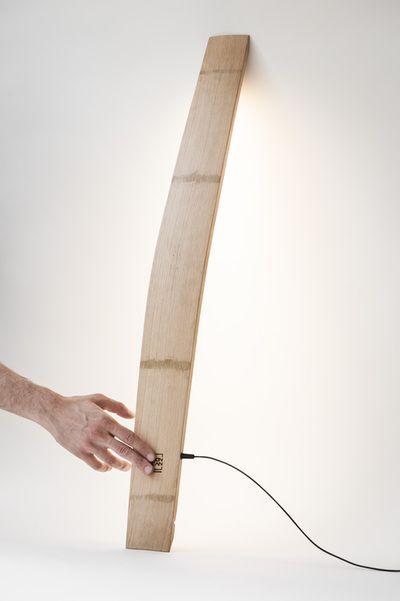 """LAMPE """"KARESS"""" - artisan décorateur - artiste         """"designer de barriques"""""""