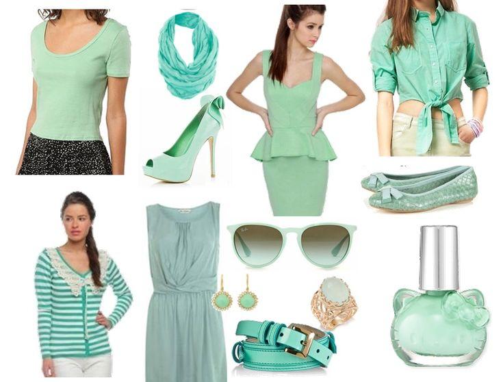 mint colour fashion - Google Search
