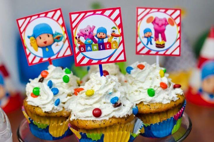 Etiquetas personalizadas para Fiesta Pocoyo!! Cupcake toppers, Banderillas para pitillos, Etiquetas para botellas de agua, Etiquetas para mini chocoloate hershey!!  http://mamatinasstyle.blogspot.com/2014/04/etiquetas-fiesta-pocoyo.html