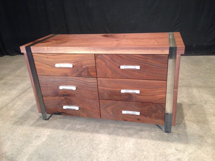 Johnhoushmand Black Walnut And Acrylic Dresser Natural Wooddressers